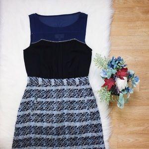 Moulinette Soeurs Blue Knit Sleeveless Dress SZ 6